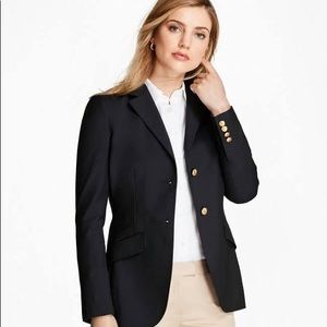 Brooks Brothers Navy Button Collared Wool Blazer